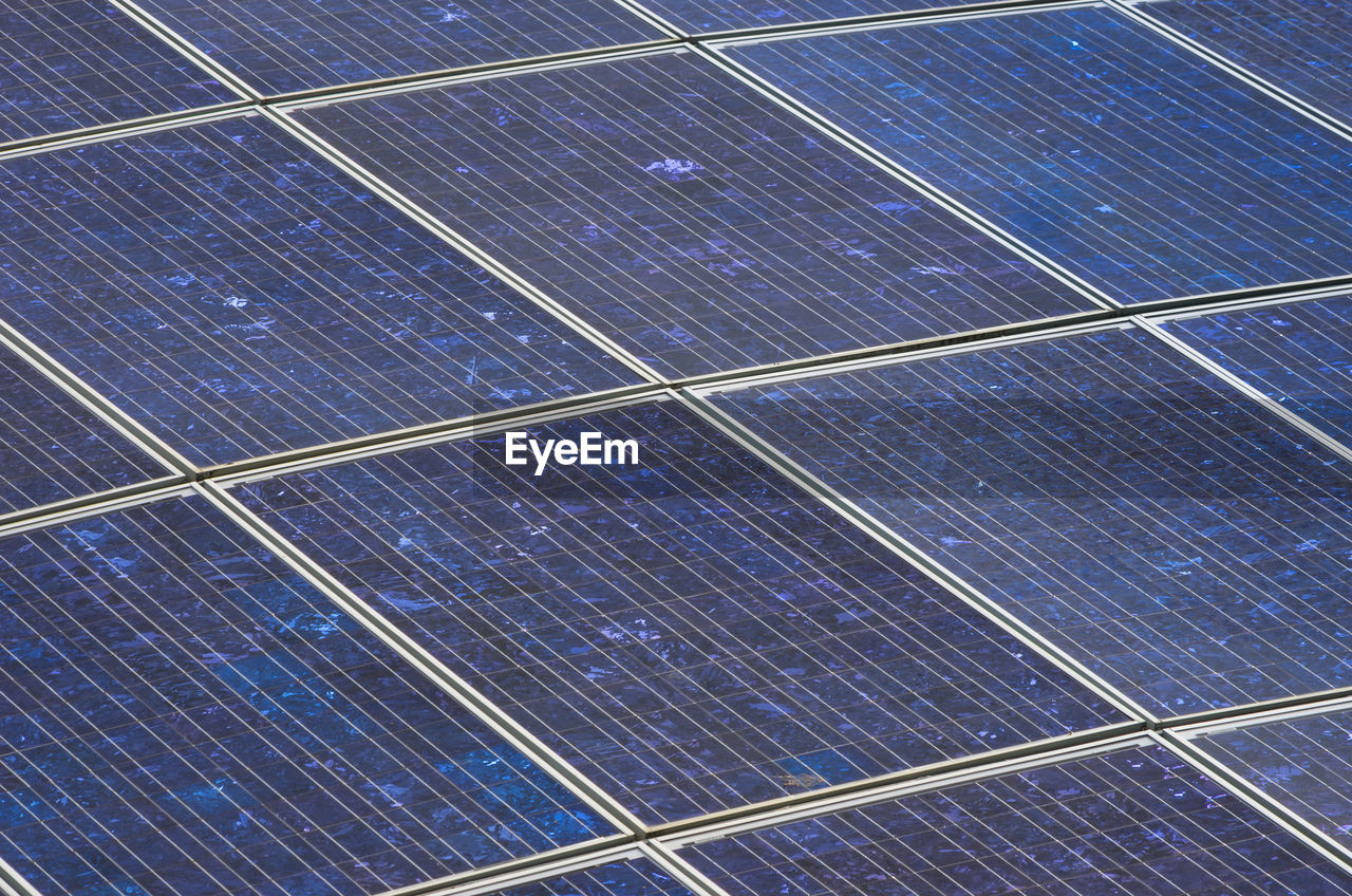 solar panel, fuel and power generation, alternative energy, pattern, solar energy, environmental conservation, renewable energy, technology, blue, solar equipment, backgrounds, full frame, electricity, environment, no people, sky, nature, outdoors, power supply, solar power station