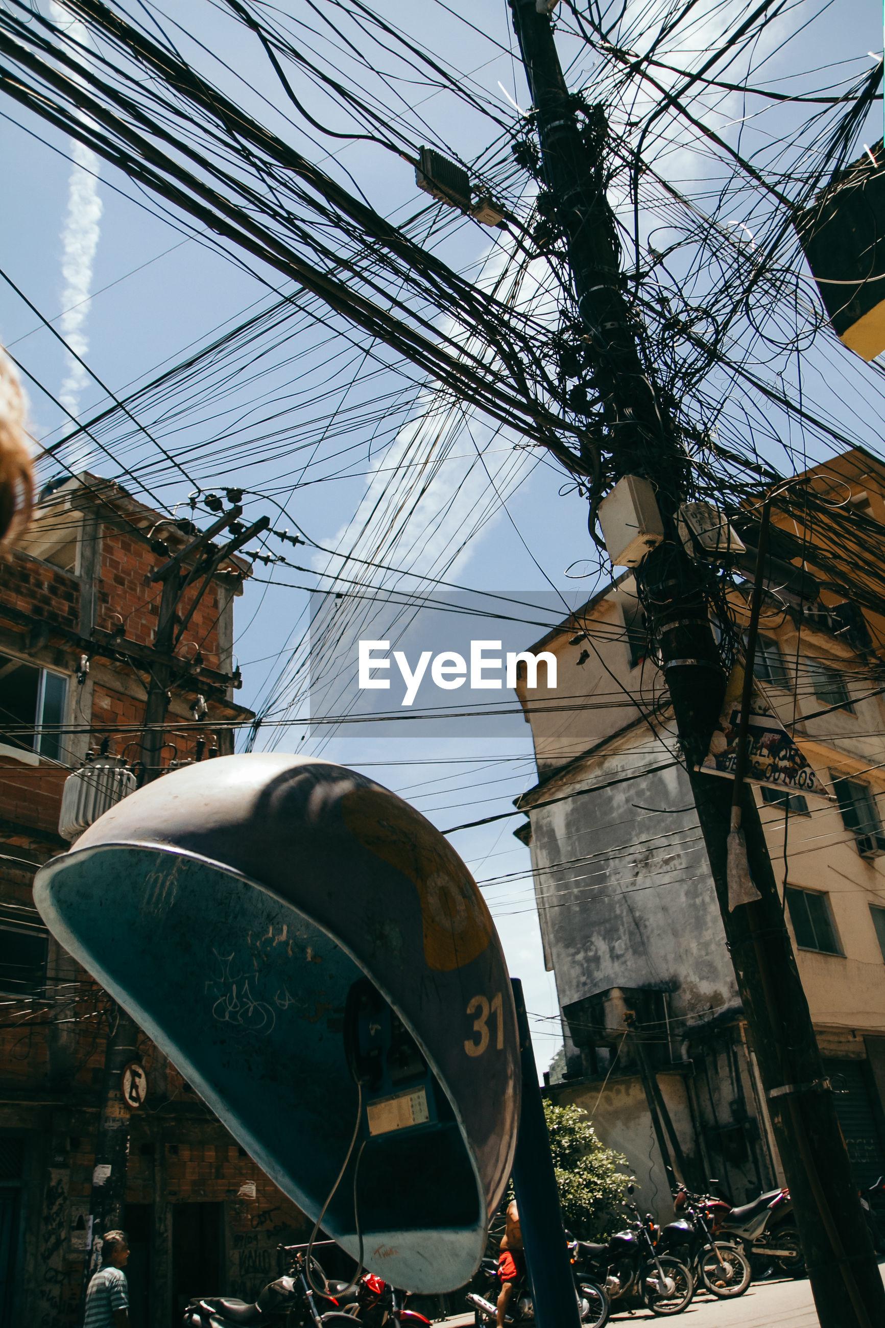 Illeale wires in the rocinha favela, rio de janeiro - brazil