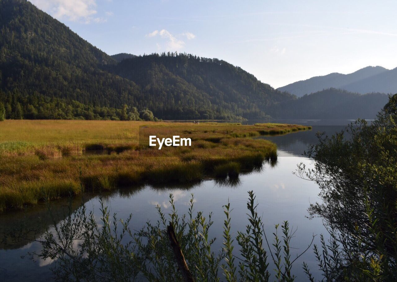 Scenic View Of River And Mountains