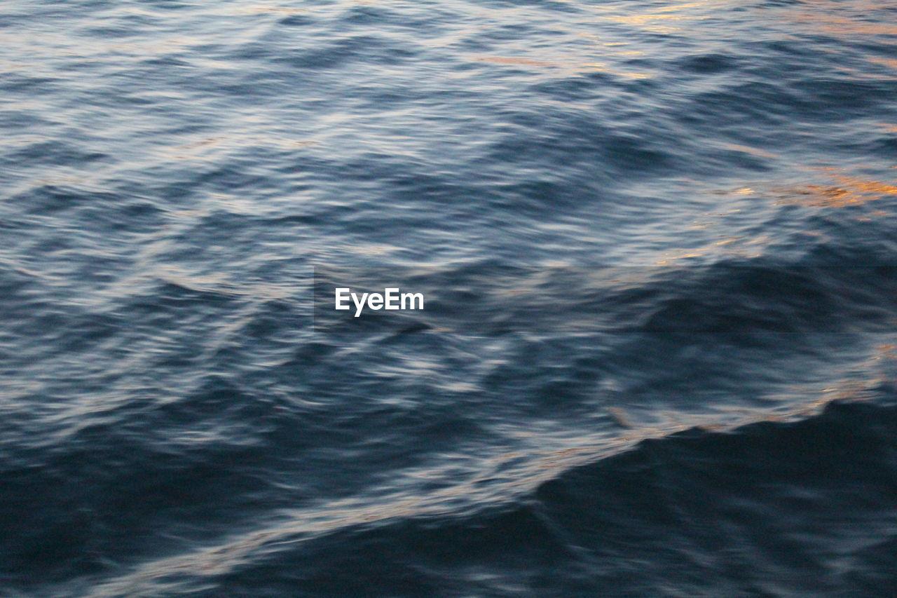 FULL FRAME SHOT OF RIPPLED SEA