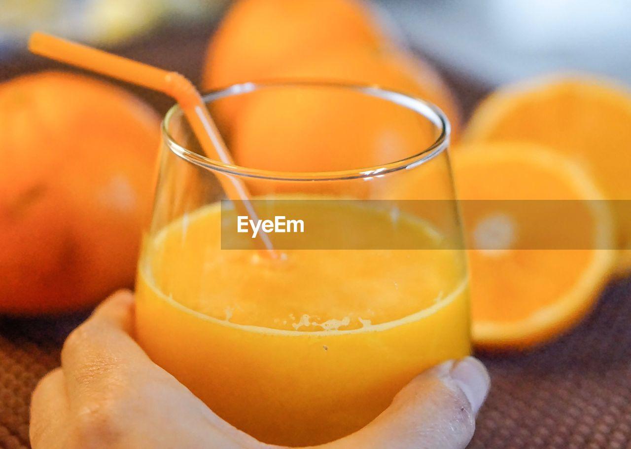 Close-up of juice