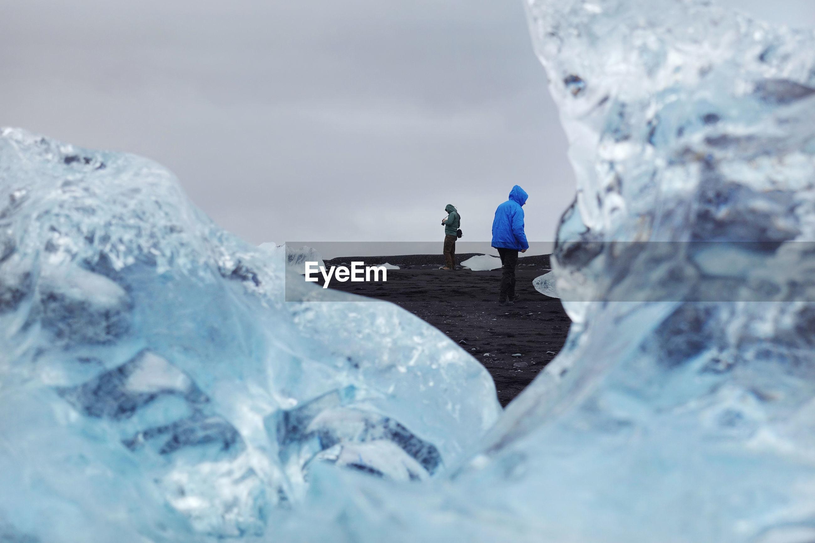 Close-up of glacier