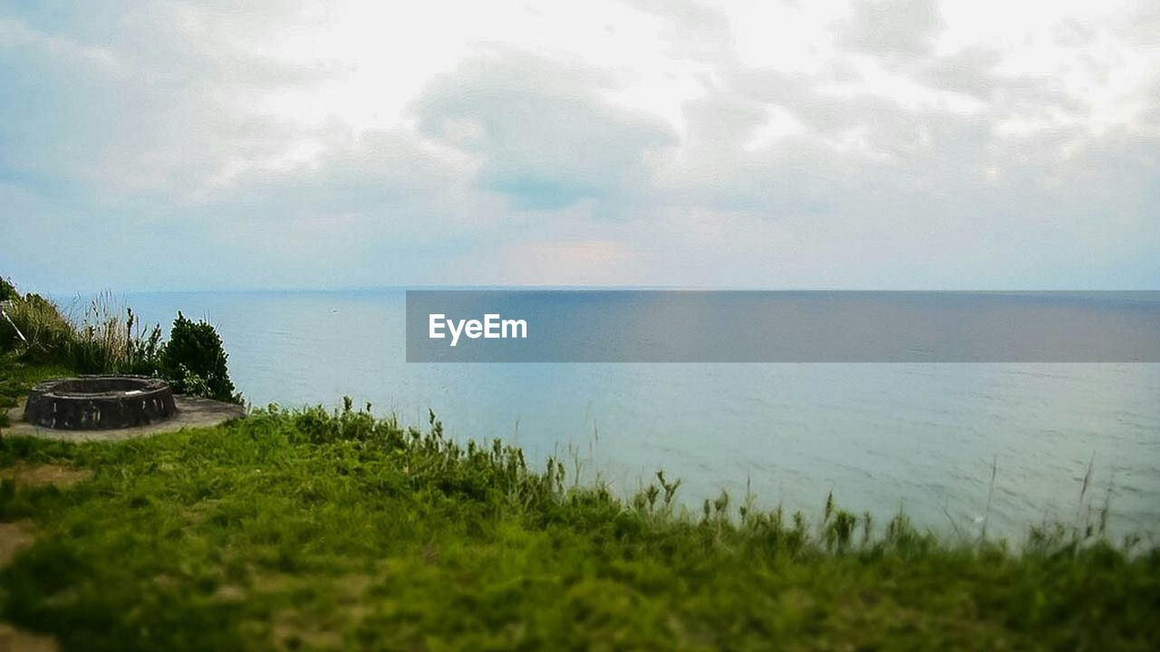 water, sea, nature, tranquility, scenics, sky, beauty in nature, horizon over water, no people, tranquil scene, day, outdoors, grass