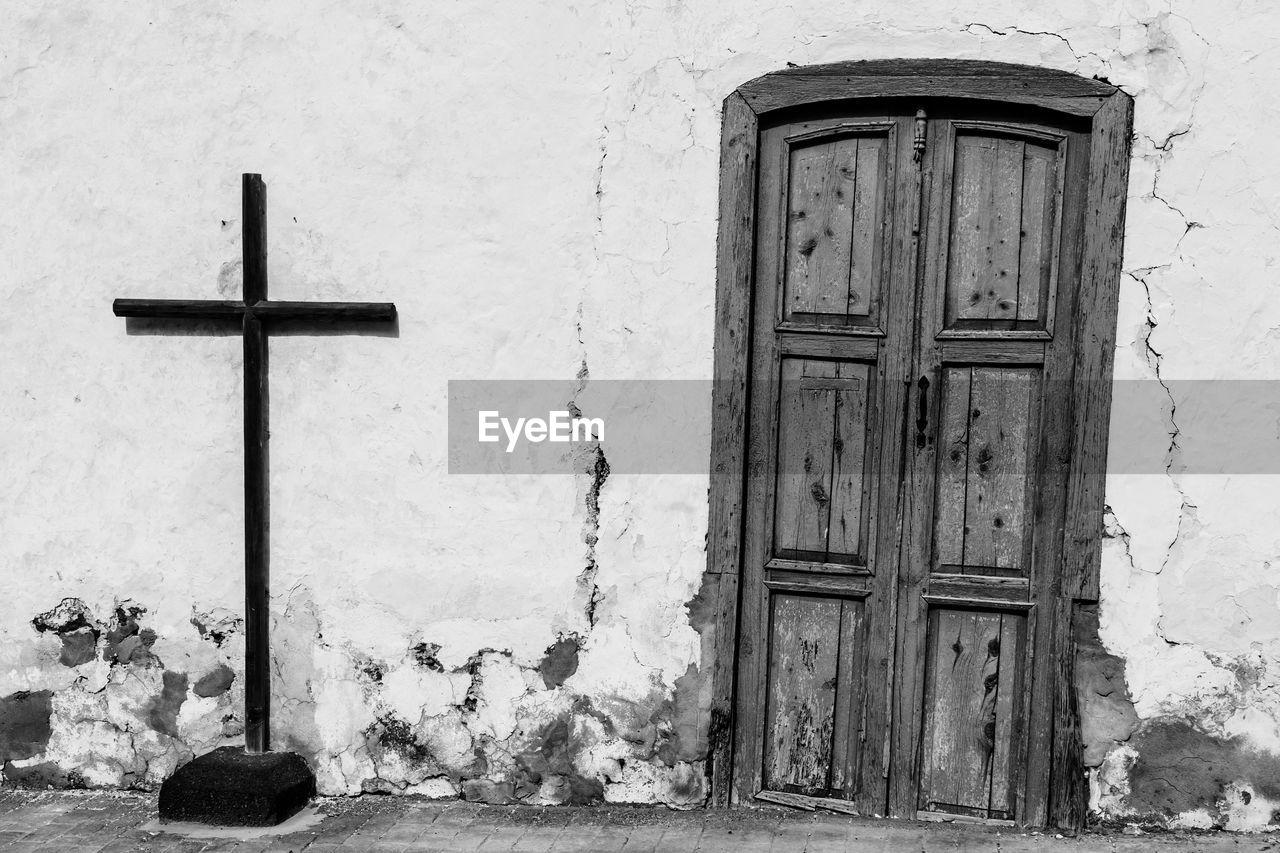 Closed Door By Cross