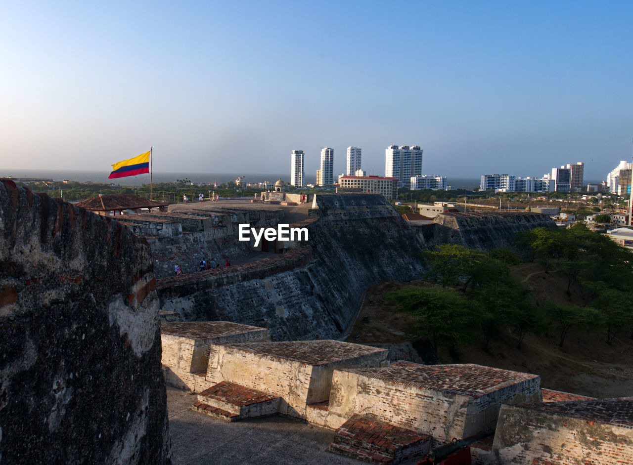 A view from the fortress in cartagena,  colombia