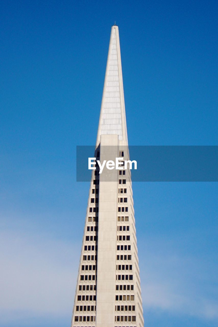 Low Angle View Of Transamerica Pyramid Against Sky