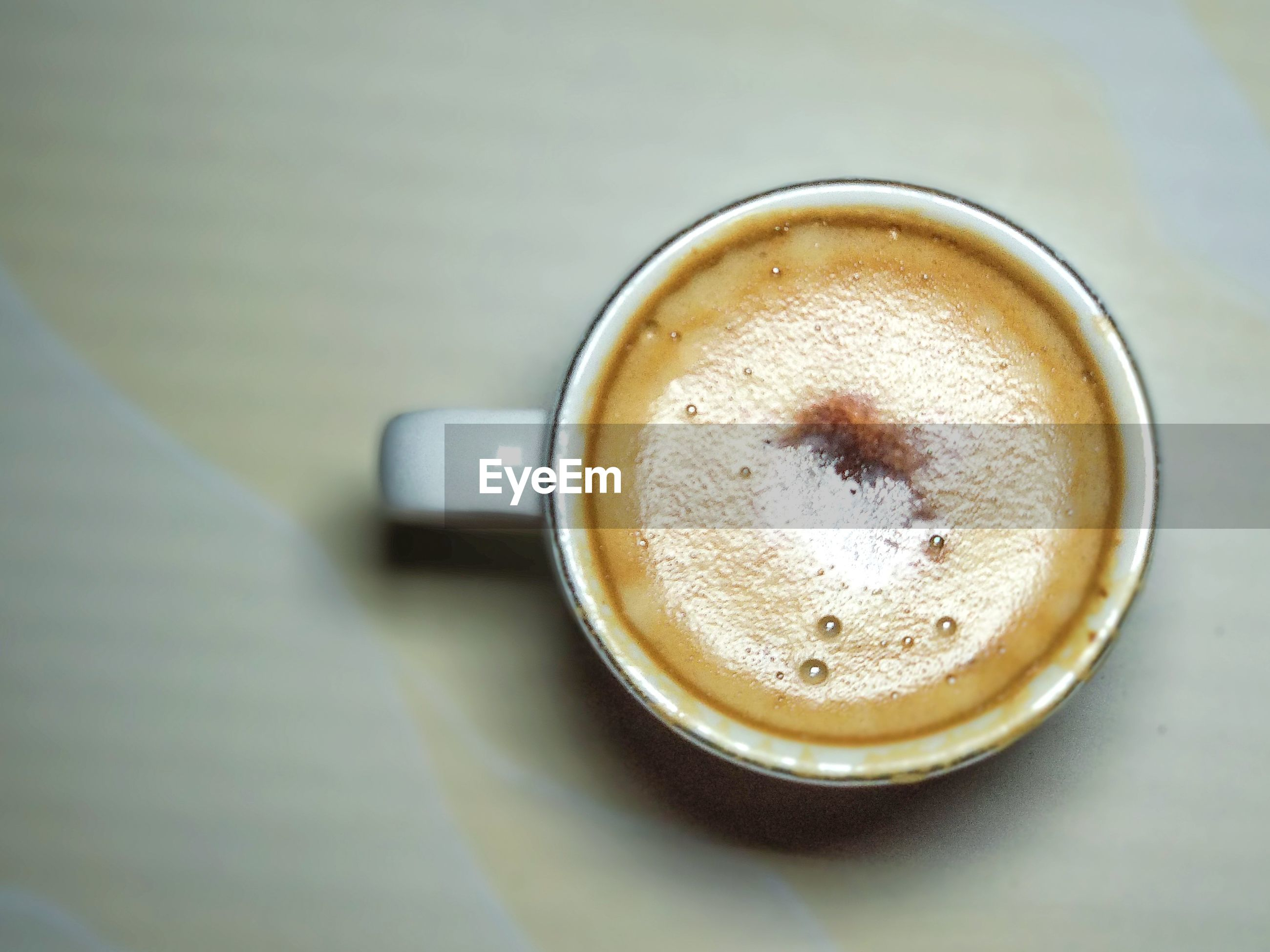 High angle view of coffee on floor