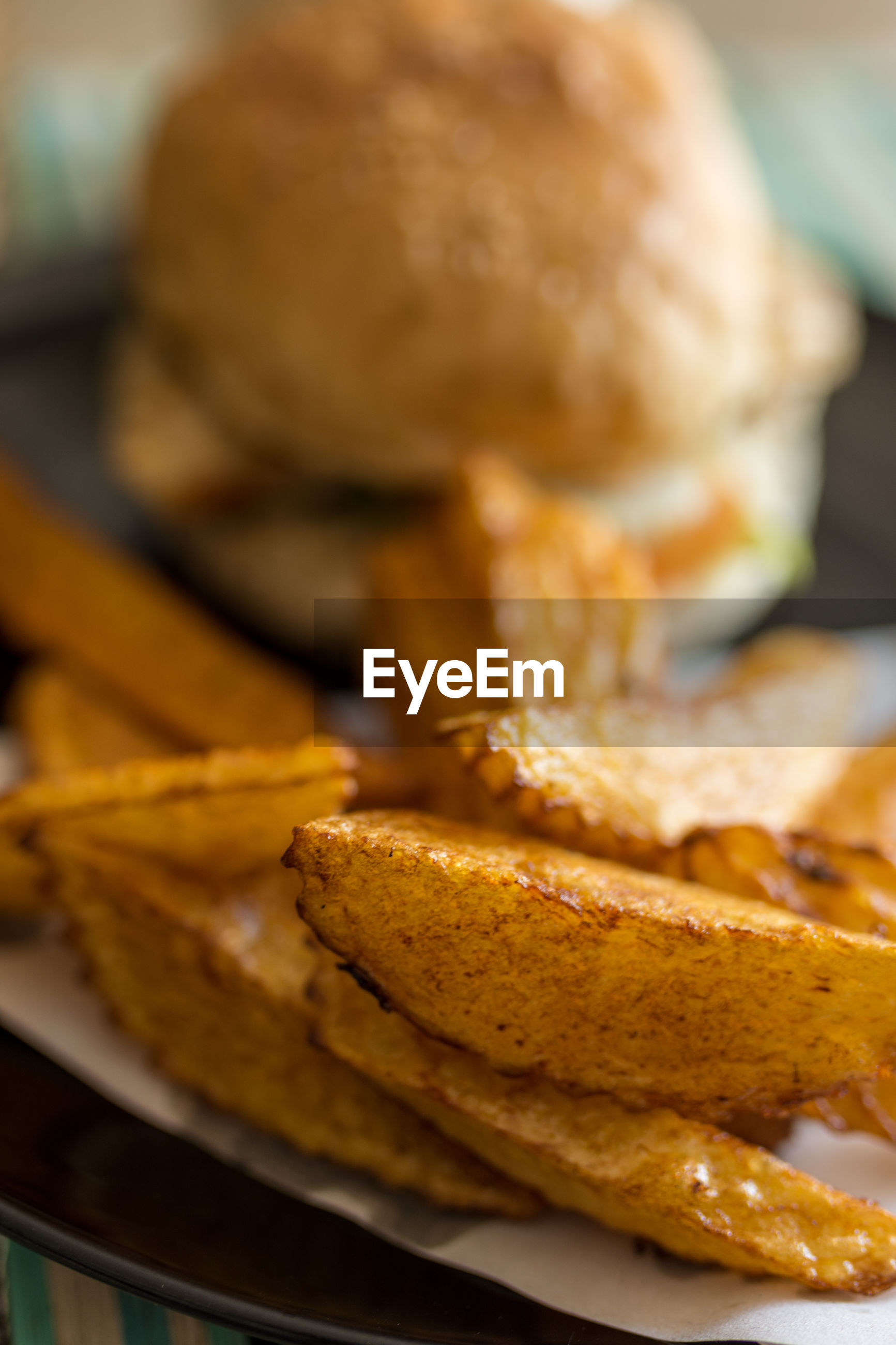 Close-up of potato on plate