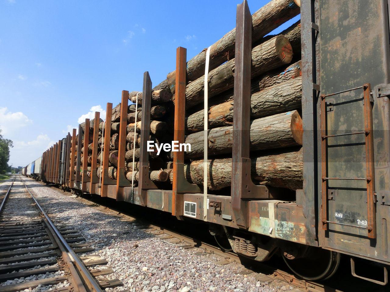 Train Transporting Tree Logs