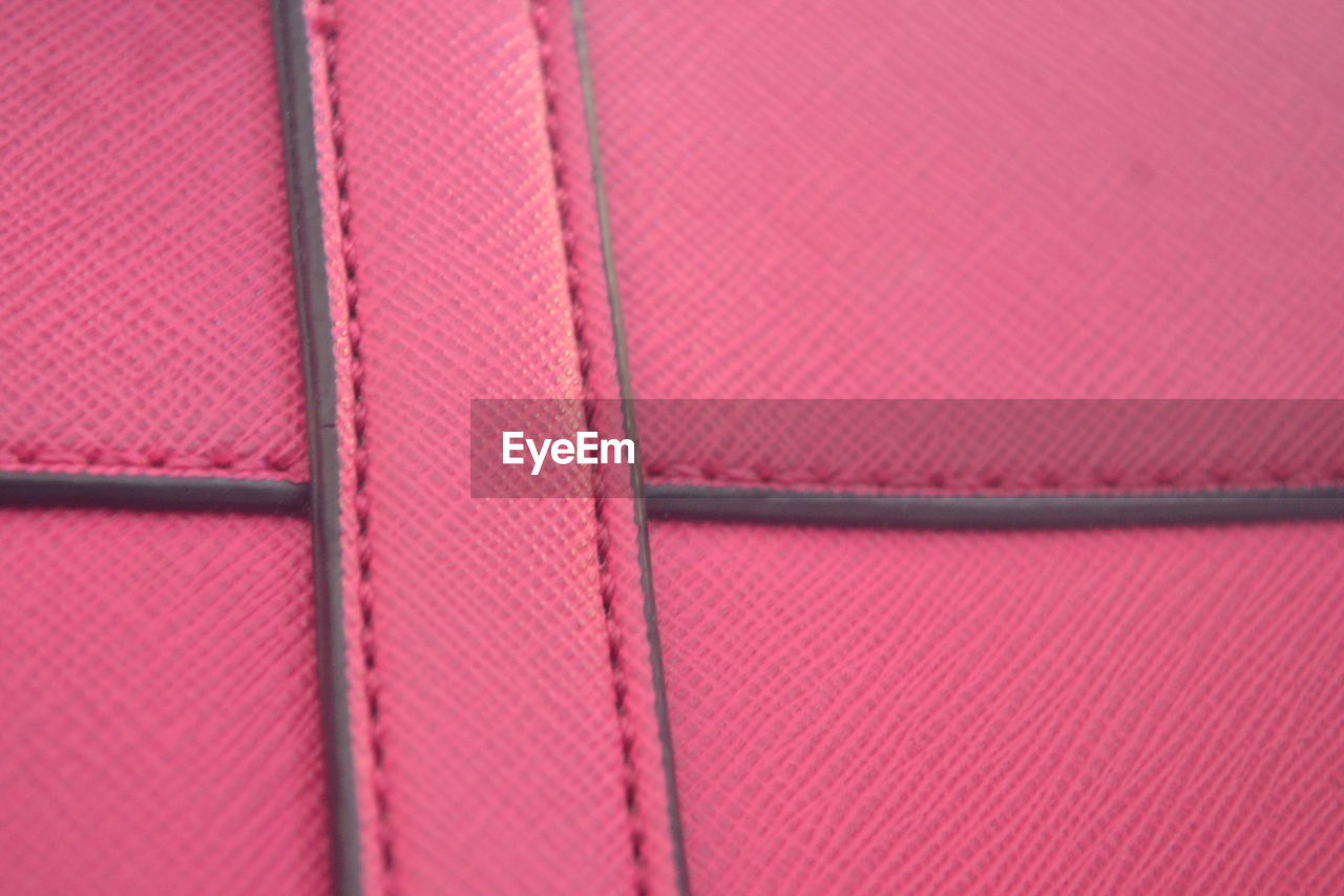 pink color, full frame, backgrounds, close-up, no people, pattern, textured, textile, indoors, red, metal, day, leather, protection, security, focus on foreground, connection, brown, safety