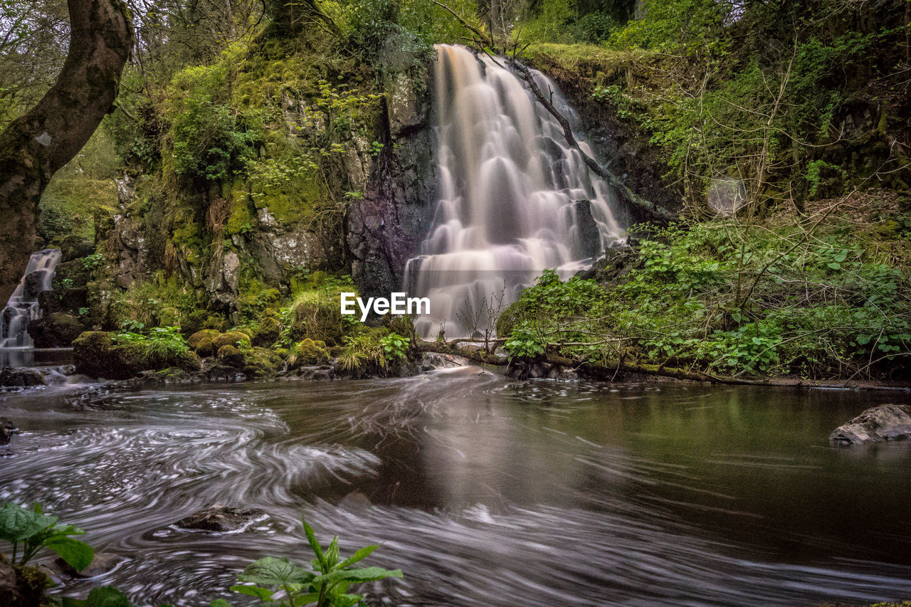 water, motion, long exposure, waterfall, rock, scenics - nature, flowing water, rock - object, forest, beauty in nature, solid, blurred motion, flowing, tree, land, nature, no people, plant, river, power in nature, rainforest, outdoors, stream - flowing water, falling water, purity