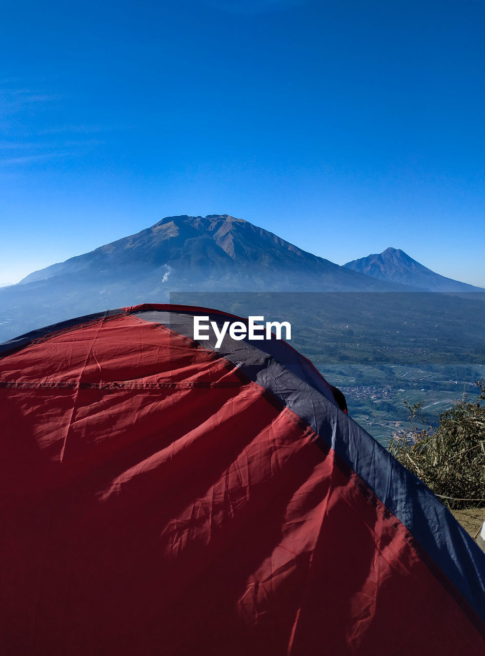 A tent in mount andong, indonesia