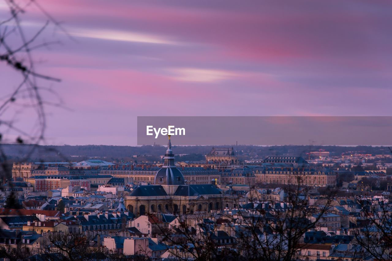 Aerial View Of Versailles At Sunset