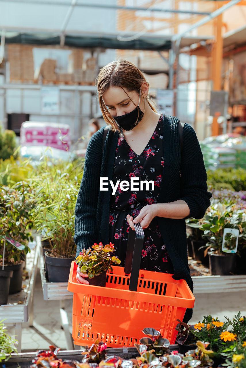 Young woman shopping at super market