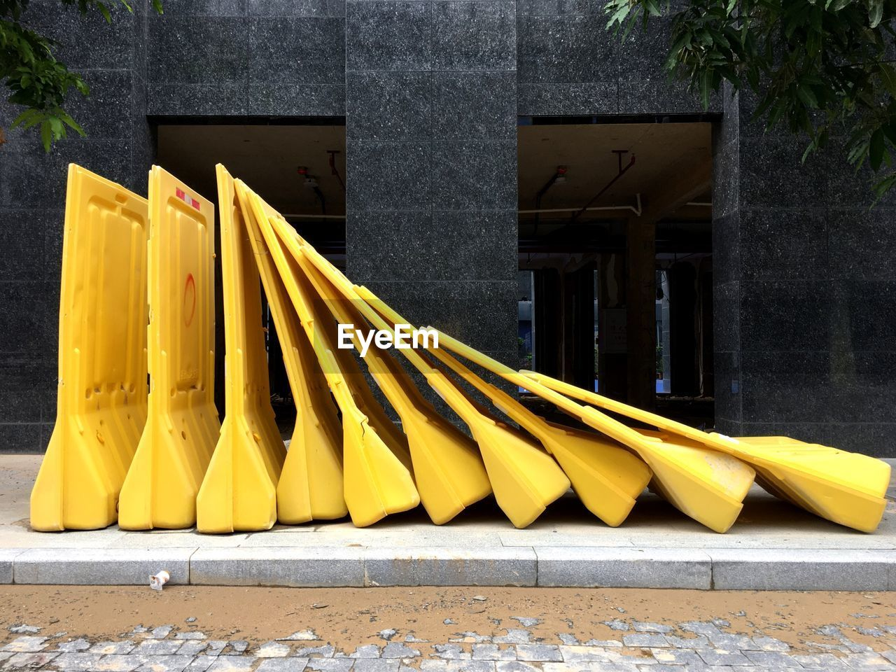 yellow, protection, safety, outdoors, day, no people, architecture, close-up