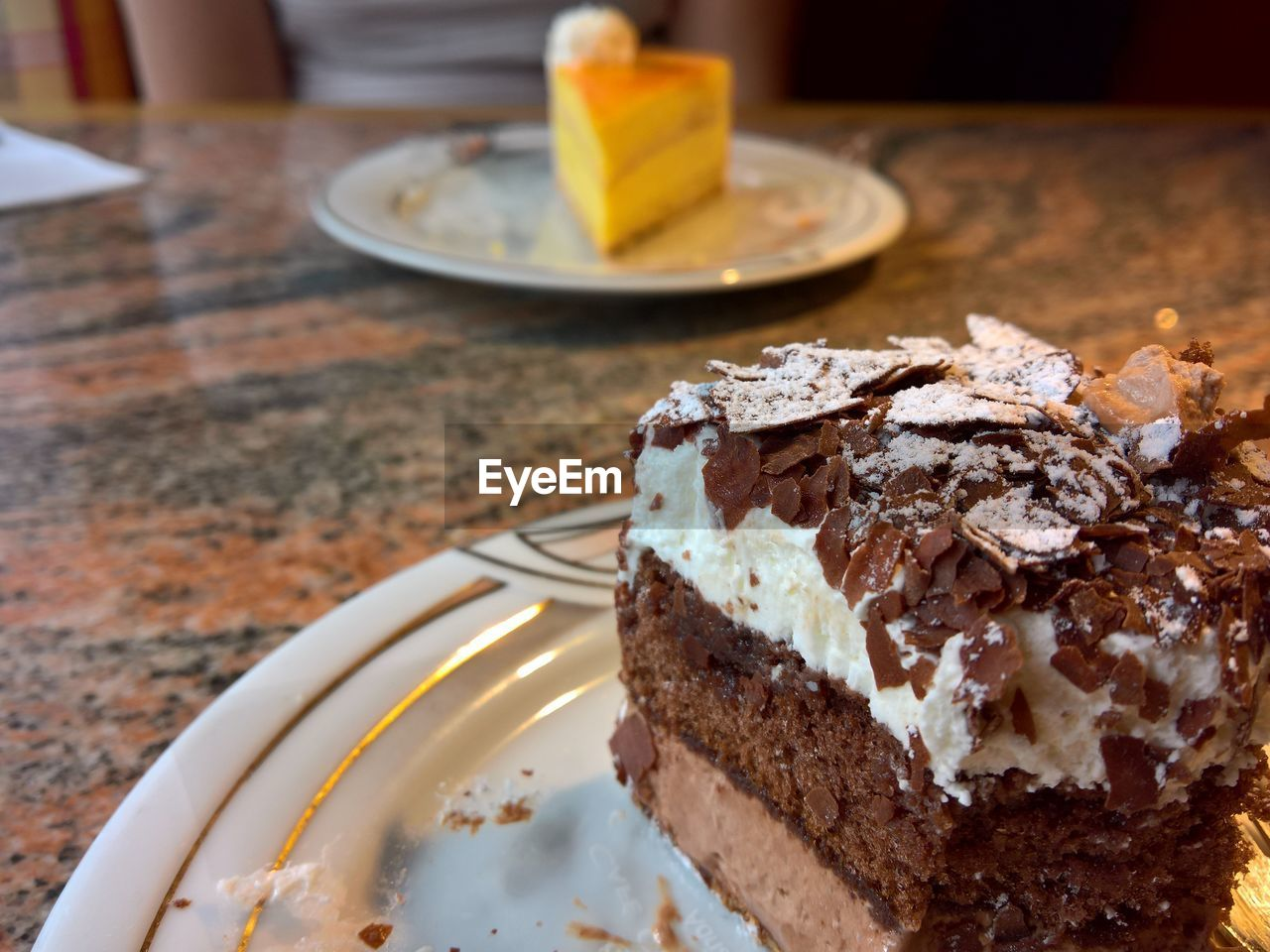 food and drink, sweet food, food, sweet, dessert, ready-to-eat, indulgence, freshness, table, plate, temptation, baked, cake, focus on foreground, still life, unhealthy eating, slice, close-up, indoors, serving size, slice of cake, no people, snack