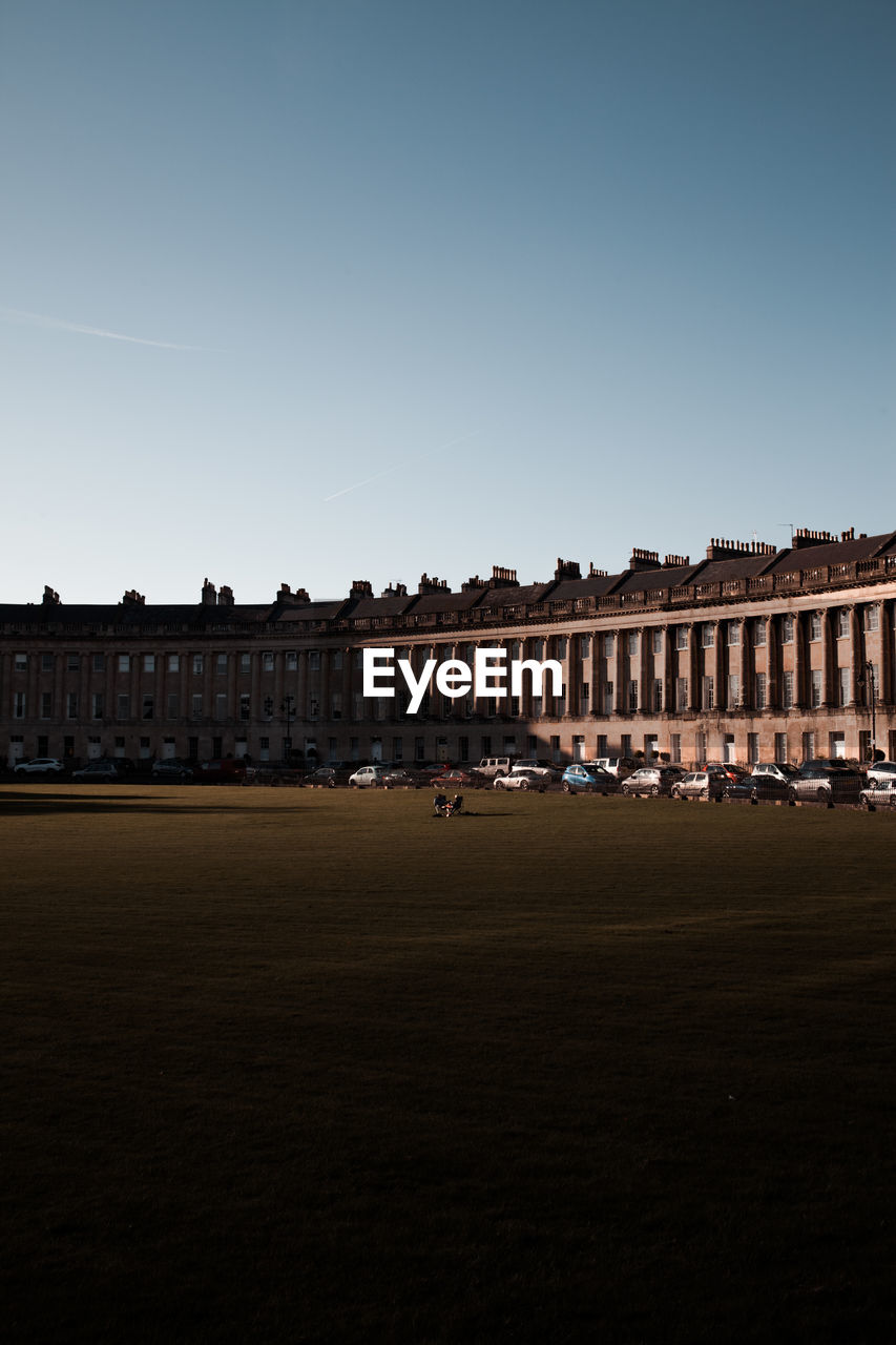 Royal Crescent Against Clear Sky In City