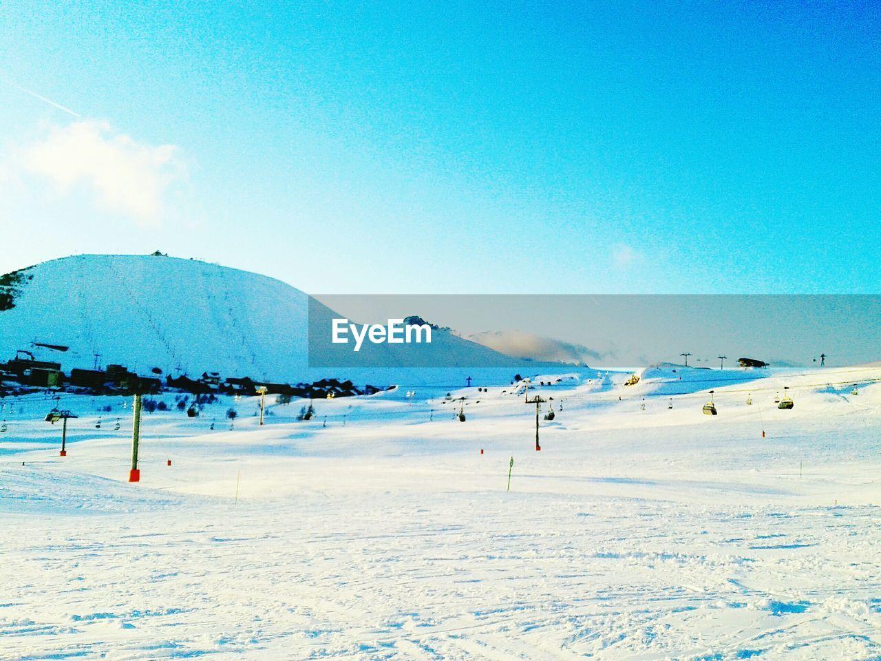 View Of Ski Lifts At Ski Resort