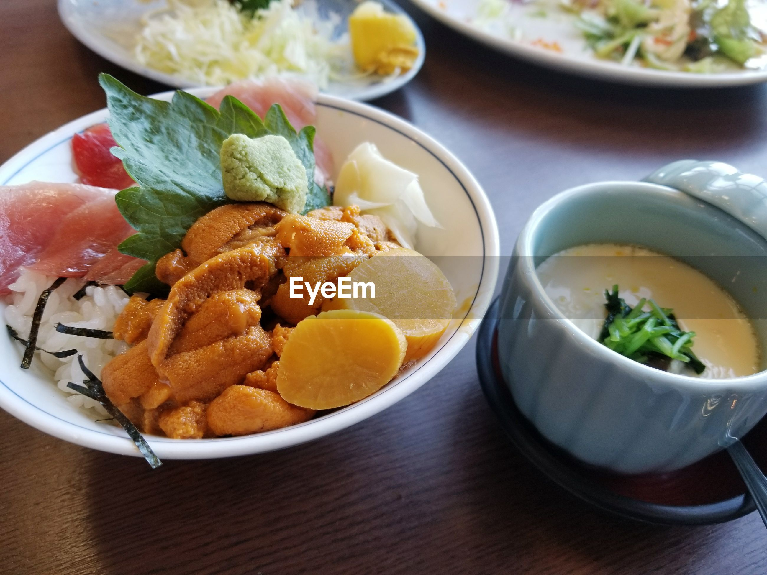 food and drink, food, freshness, ready-to-eat, bowl, indoors, table, plate, serving size, healthy eating, japanese food, no people, indulgence, close-up, high angle view, seafood, day