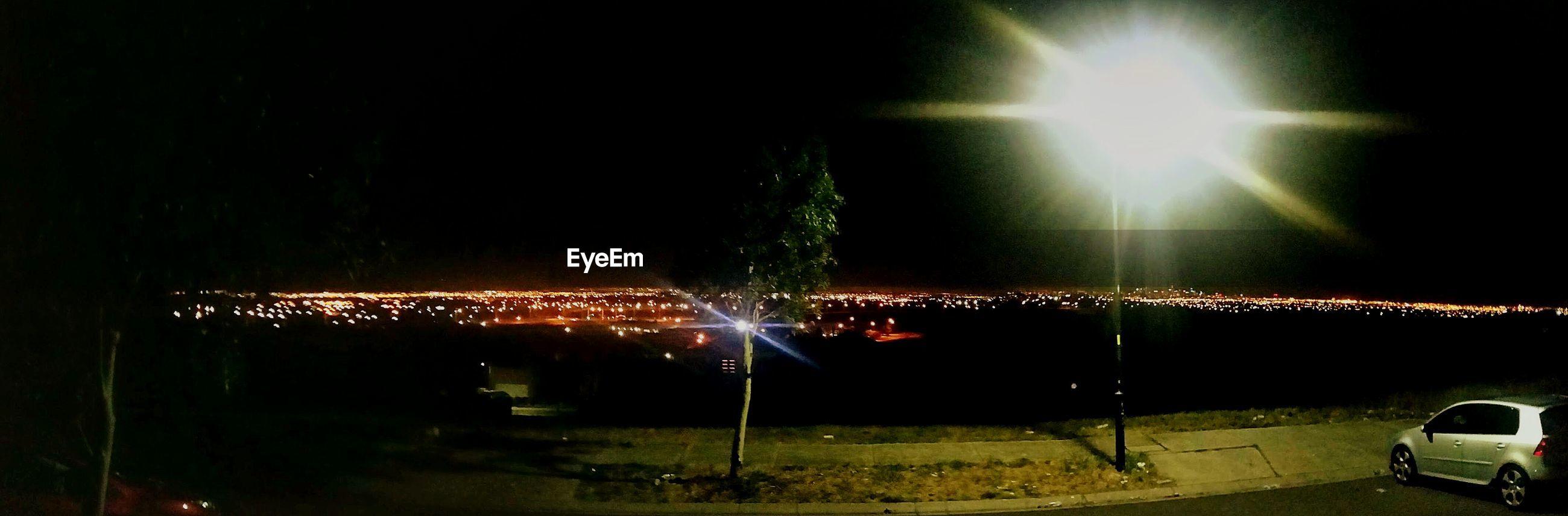 night, illuminated, lighting equipment, no people, outdoors, sky, nature