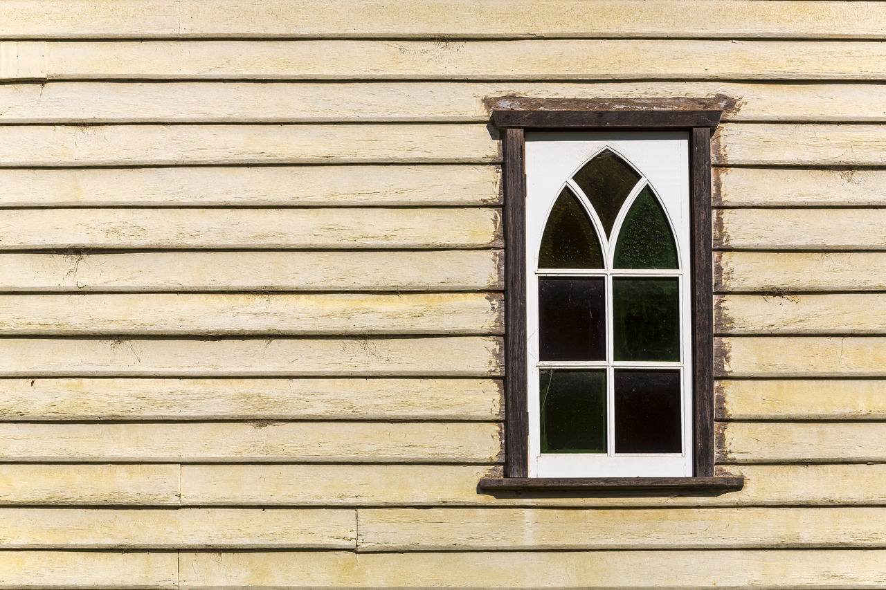 built structure, architecture, building exterior, window, wall - building feature, building, no people, day, wood - material, closed, glass - material, outdoors, house, pattern, geometric shape, security, protection, shutter, safety, residential district, window frame