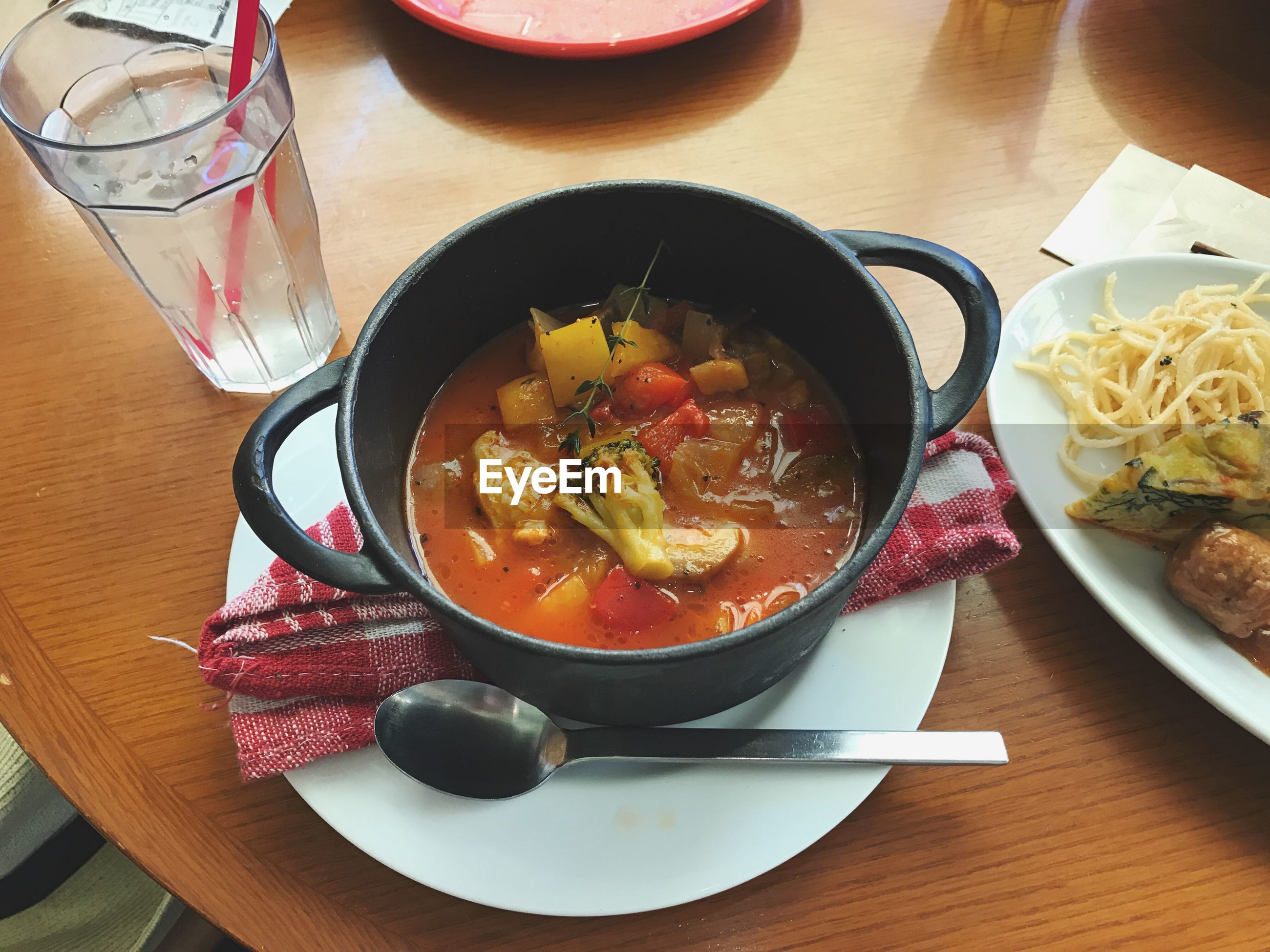 food and drink, food, table, freshness, indoors, healthy eating, bowl, serving size, high angle view, soup, ready-to-eat, no people, vegetable, close-up, day