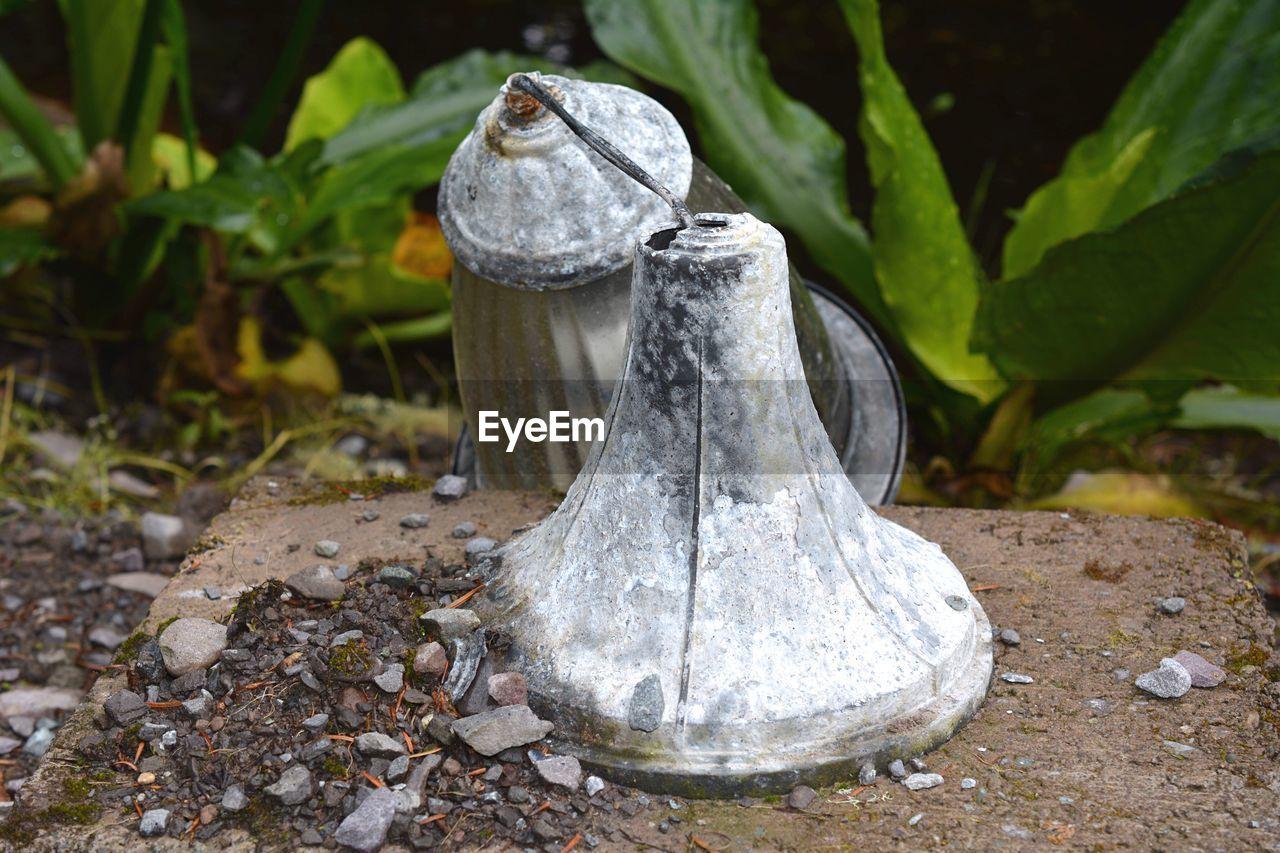 Damaged lamp on field