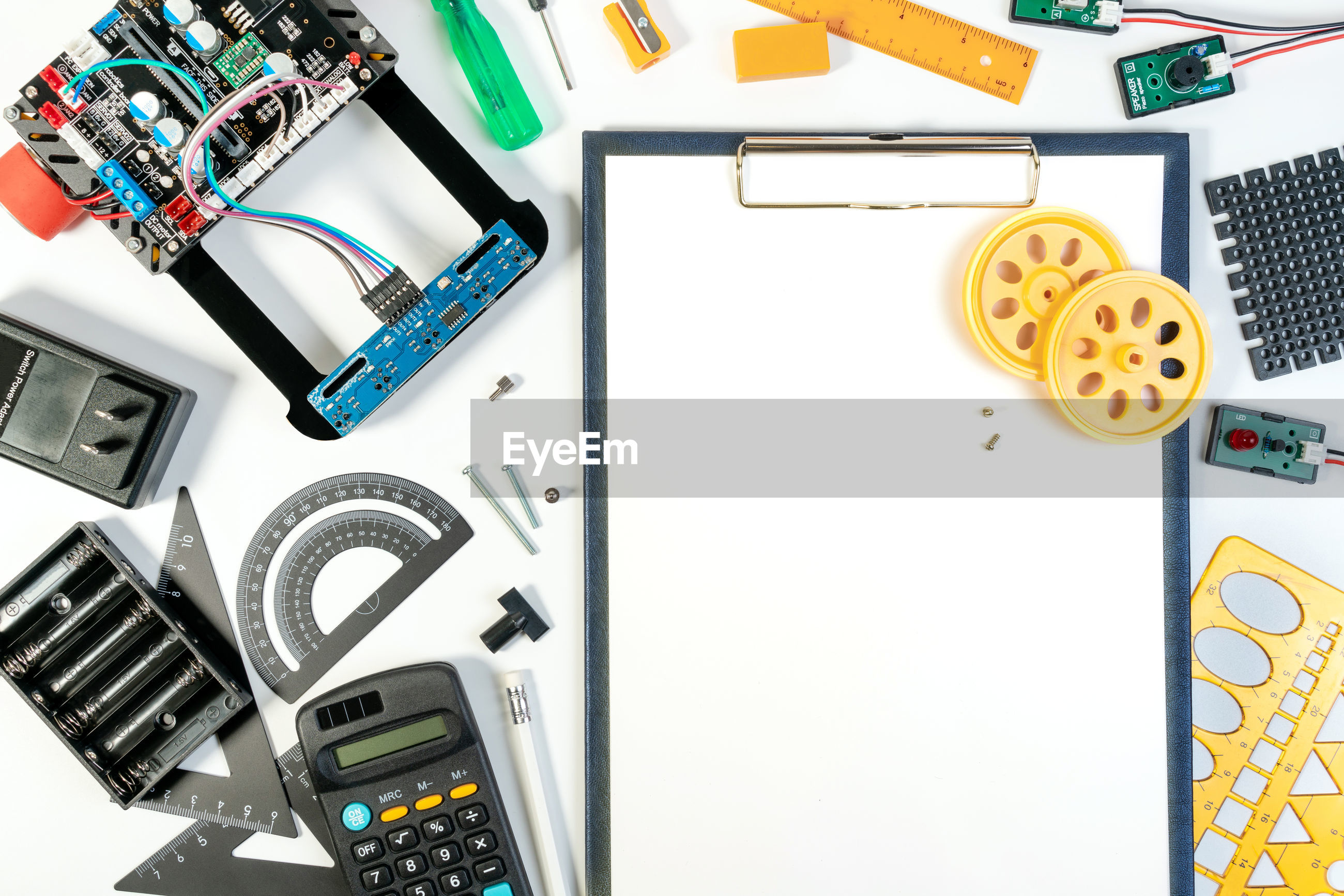 Various objects on white table