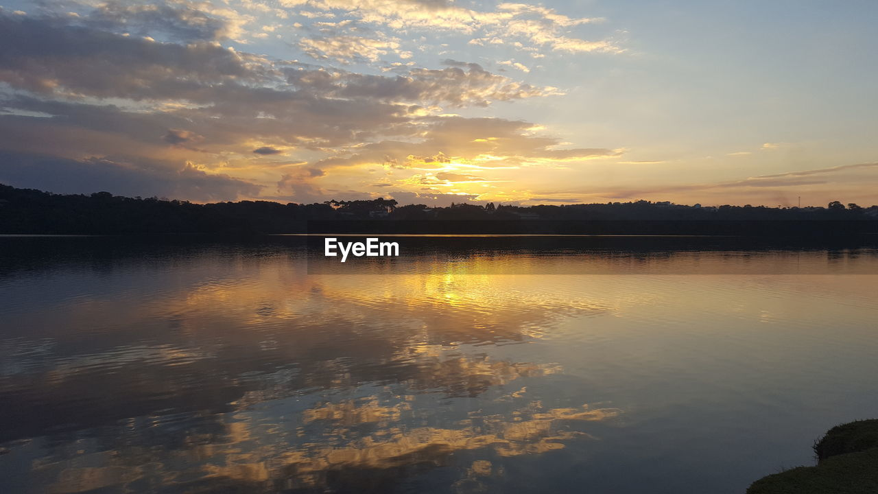 reflection, sunset, cloud - sky, sky, scenics, beauty in nature, nature, tranquil scene, tranquility, water, no people, idyllic, lake, outdoors, tree, day