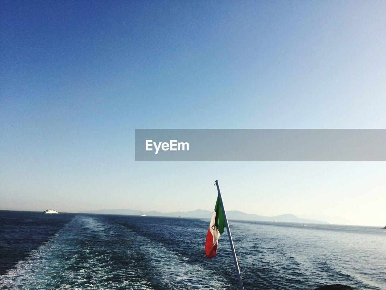 Italian Flag Against Sea