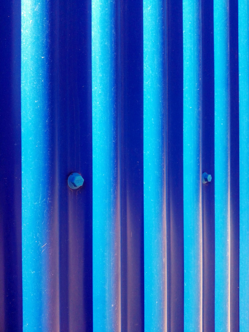 full frame, backgrounds, blue, metal, pattern, no people, close-up, textured, day, outdoors, corrugated iron