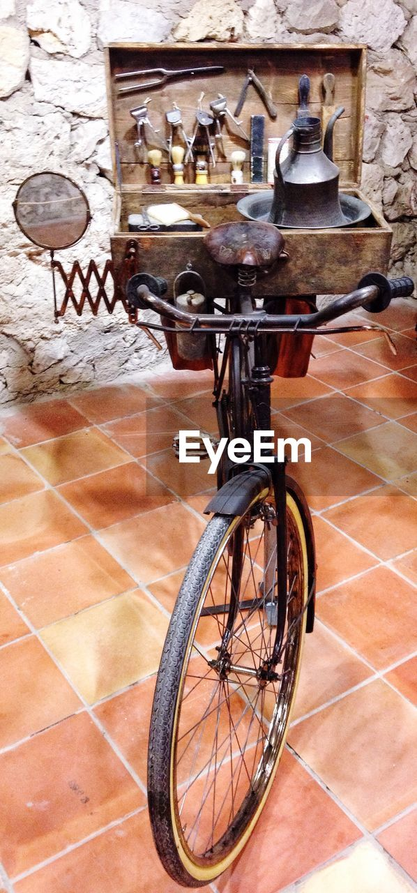 bicycle, day, no people, indoors