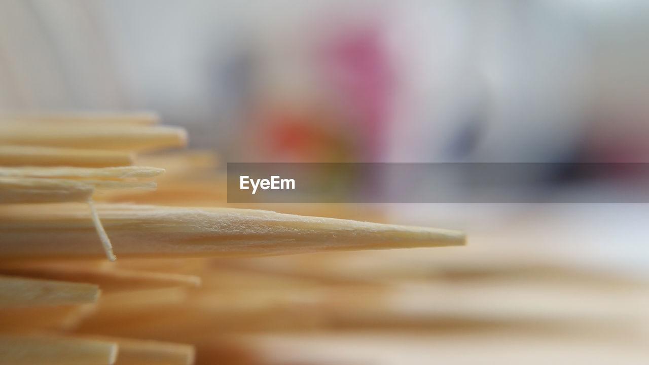 Close-up of toothpicks