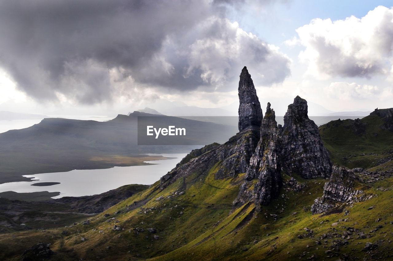 Isle Of Skye Against Cloudy Sky