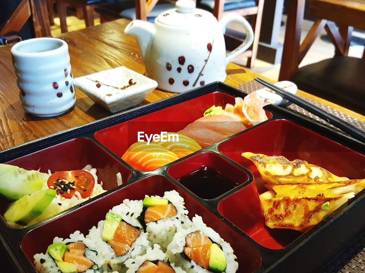 food and drink, food, indoors, variation, freshness, plate, healthy eating, no people, ready-to-eat, sushi, close-up, day