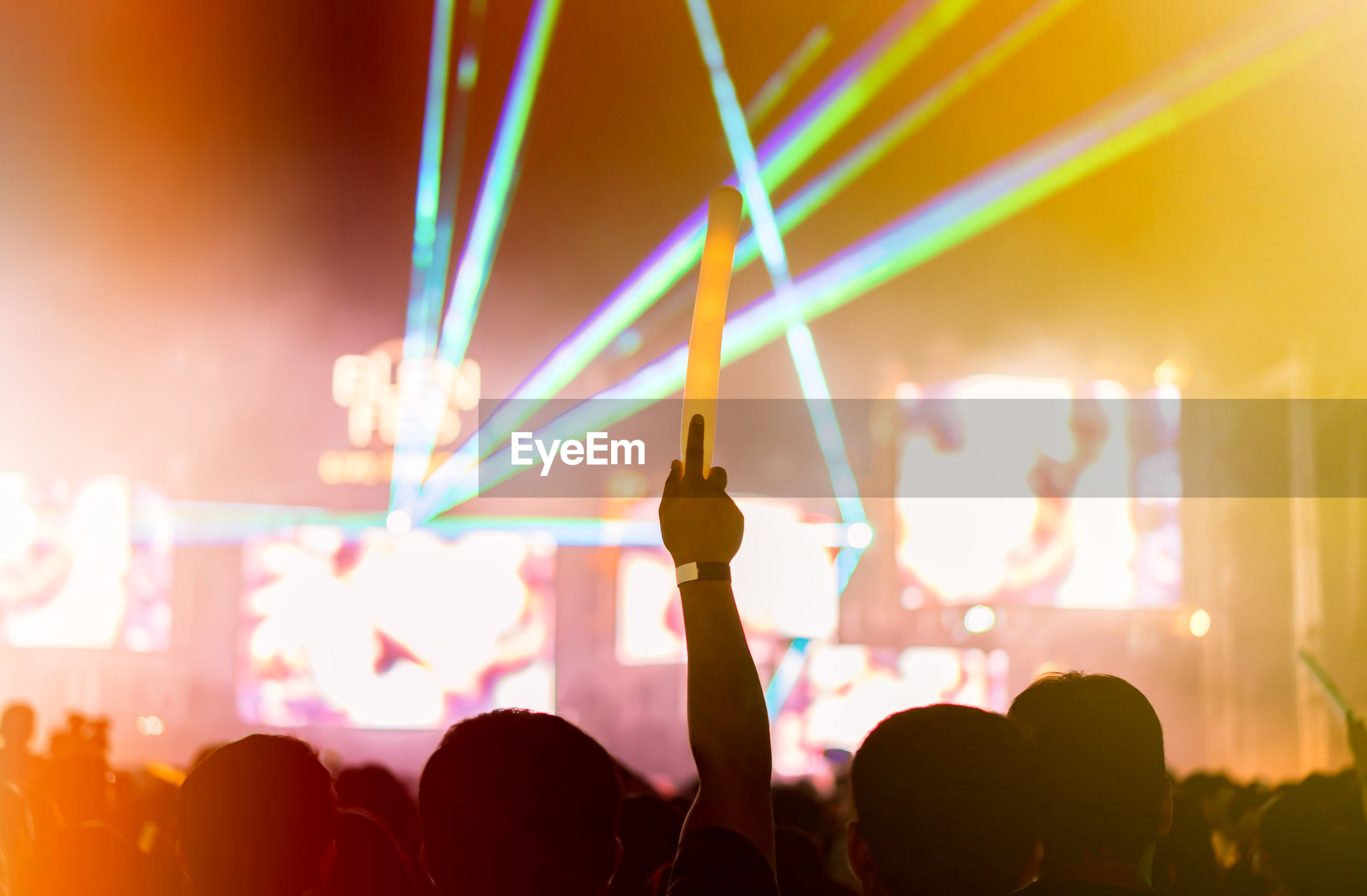Silhouette crowd enjoying at music concert