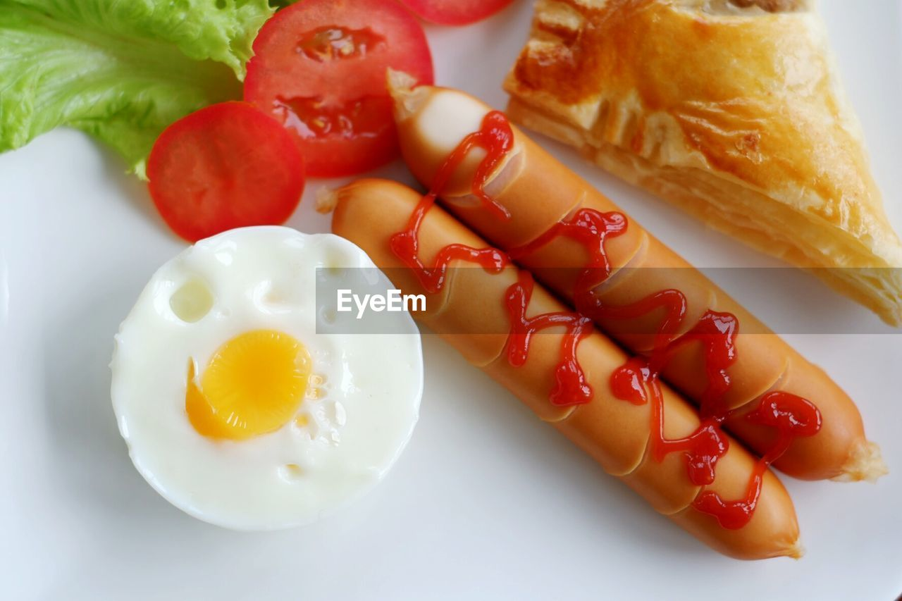 food, food and drink, freshness, ready-to-eat, plate, still life, healthy eating, indoors, close-up, indulgence, fruit, vegetable, no people, wellbeing, meat, serving size, egg, breakfast, sausage, meal, fried egg, temptation, snack