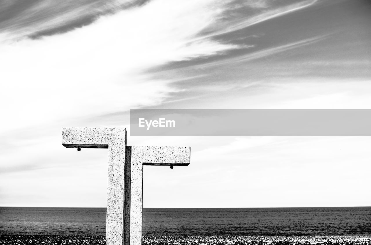 sky, day, nature, cloud - sky, land, water, tranquility, tranquil scene, landscape, horizon, no people, outdoors, scenics - nature, field, non-urban scene, communication, belief, beauty in nature, sign