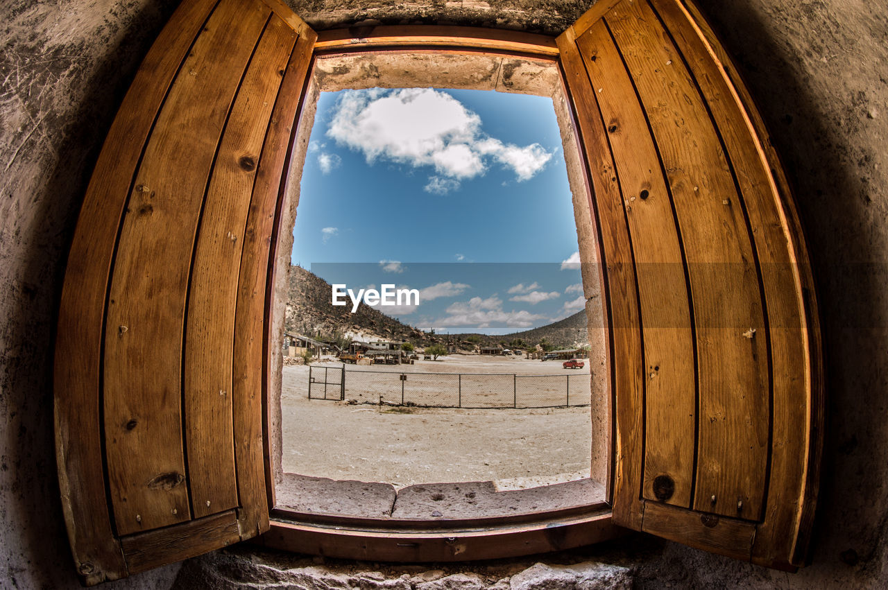 Fish-Eye View Of Open Window