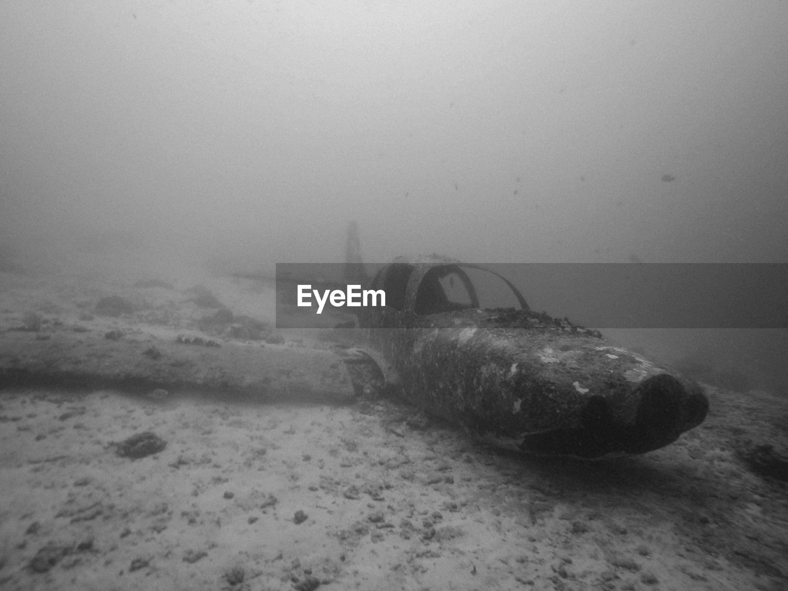 Abandoned airplane undersea