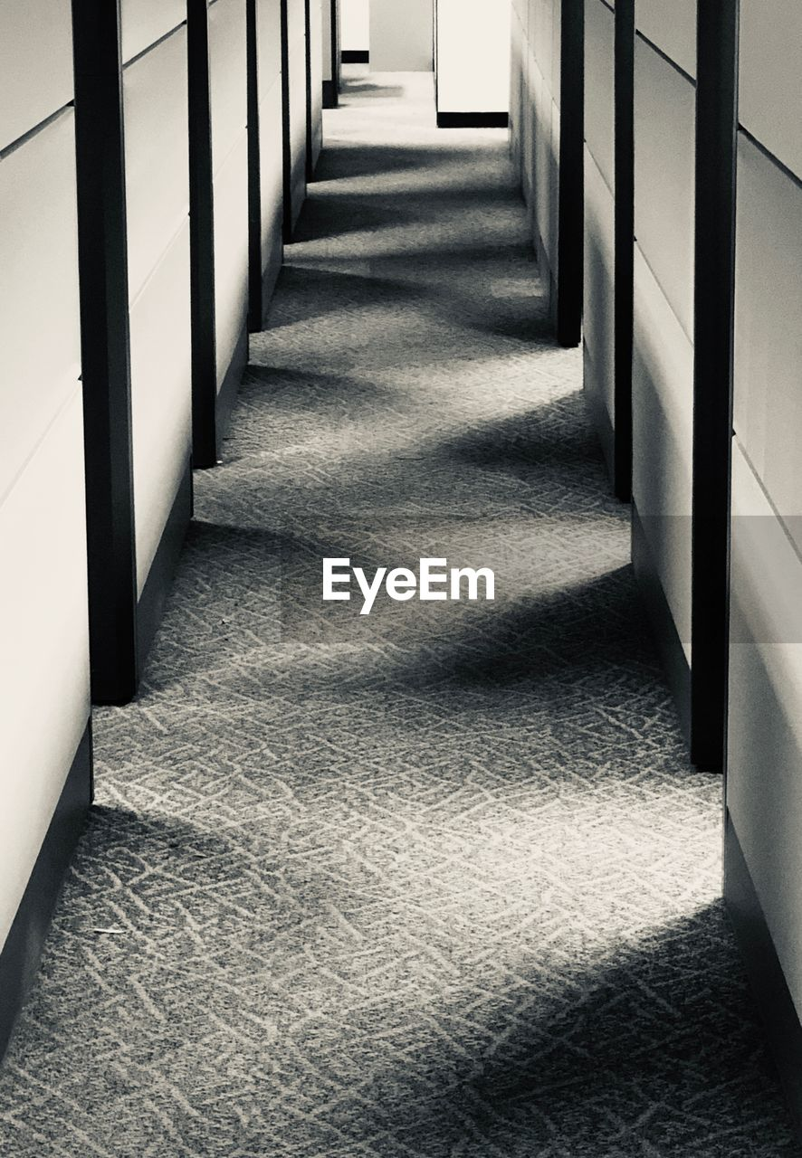 architecture, direction, the way forward, built structure, no people, railing, arcade, building, corridor, diminishing perspective, in a row, indoors, sunlight, shadow, empty, day, absence, staircase, nature