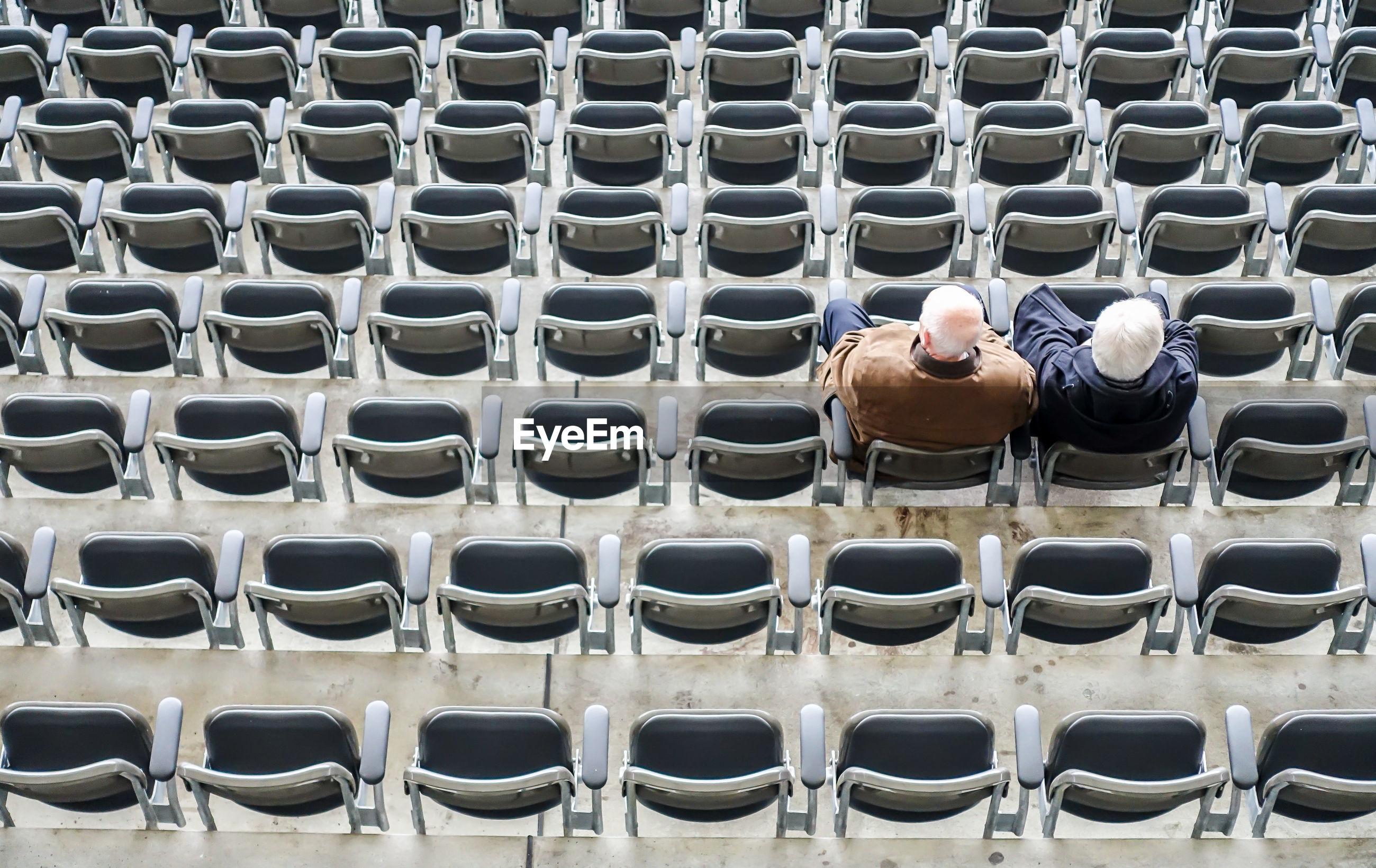 People sitting in stadium