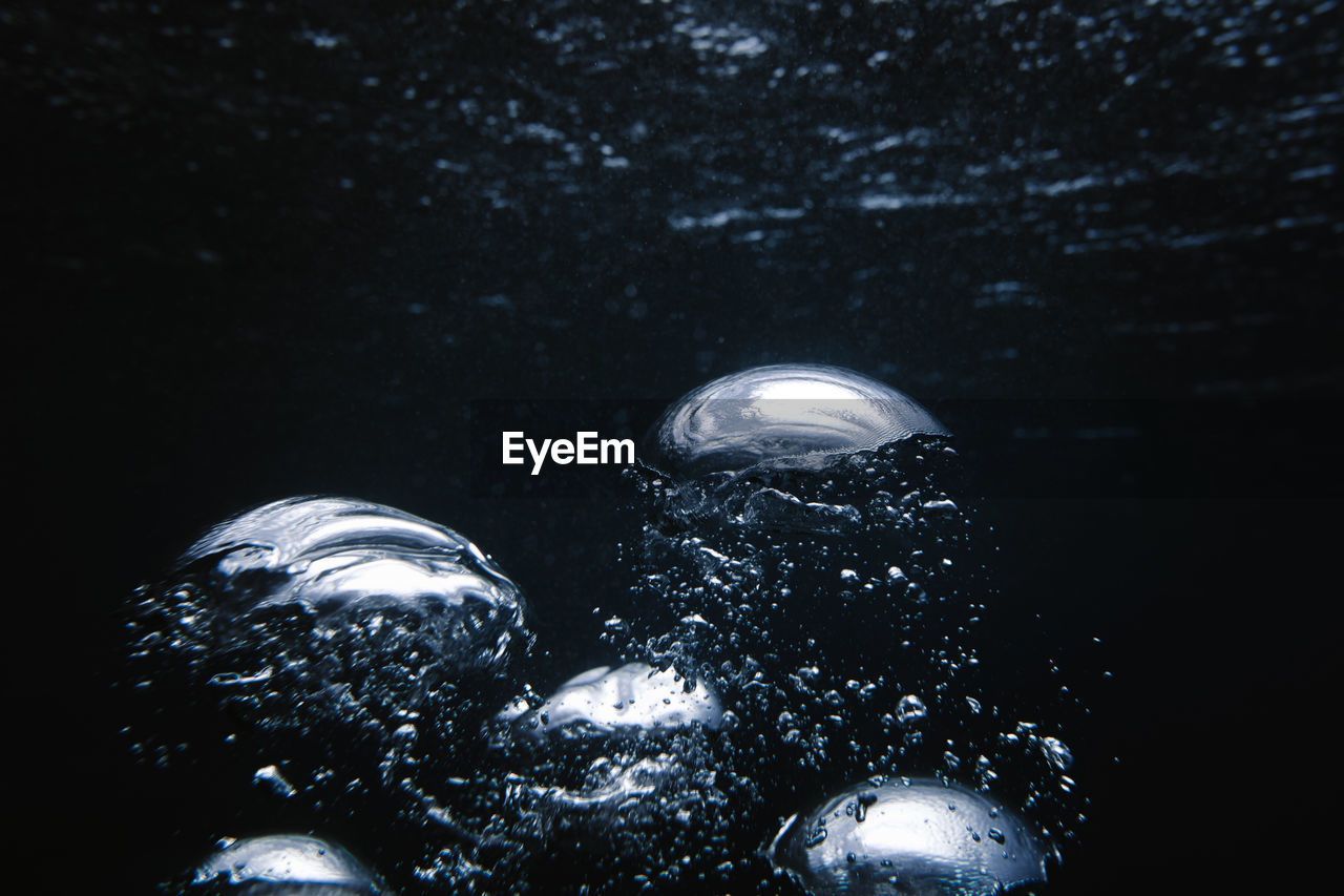 Close-up of water drops on the sea