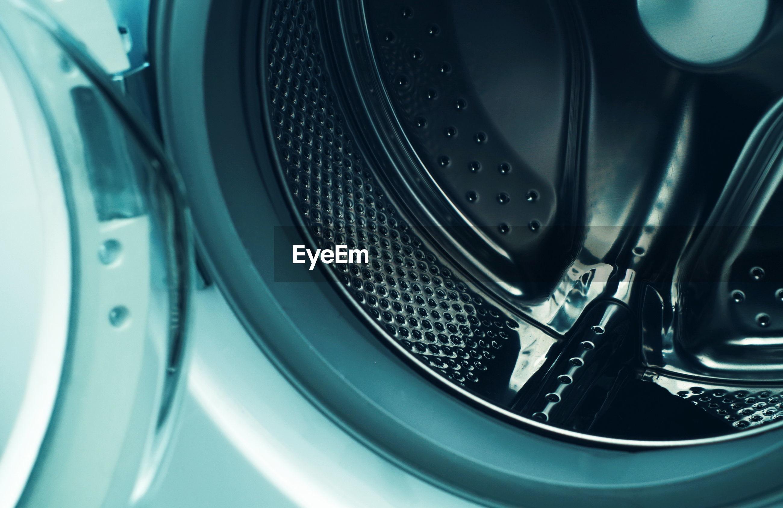 Close-up of washing machine at home