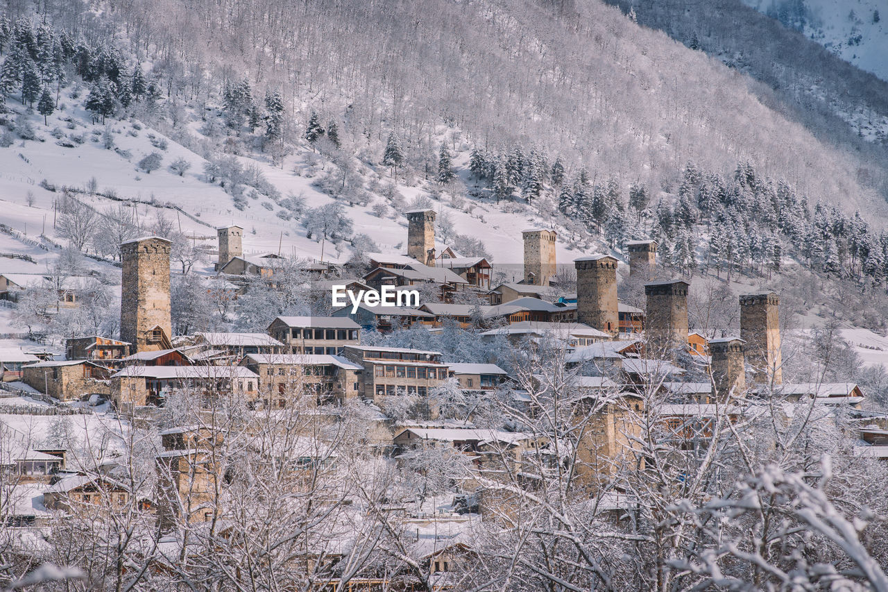 winter, snow, cold temperature, nature, no people, day, frozen, architecture, built structure, environment, mountain, outdoors, building exterior, plant, tree, landscape, tranquility, beauty in nature, scenics - nature, extreme weather