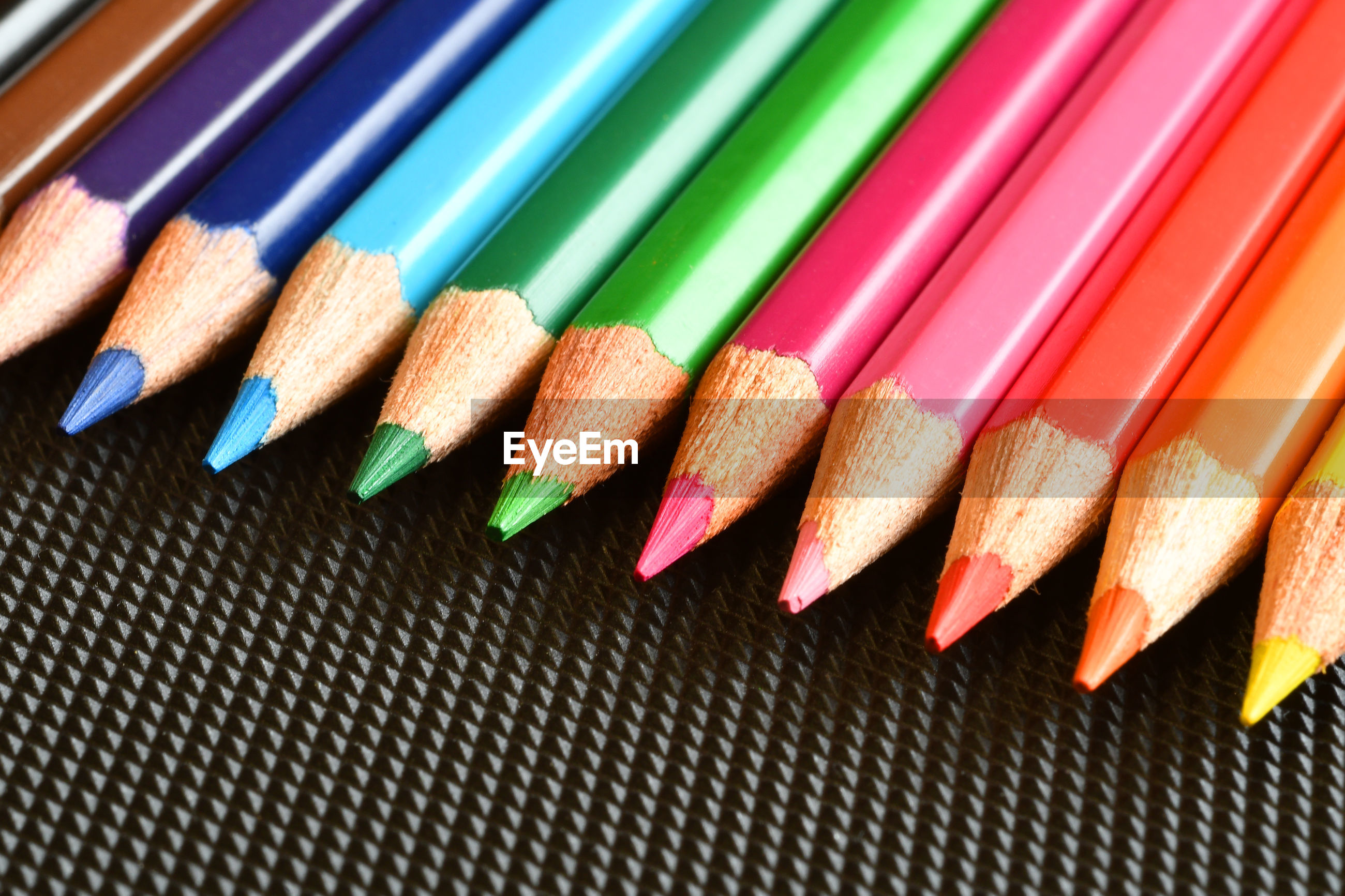 Close-up of colored pencils