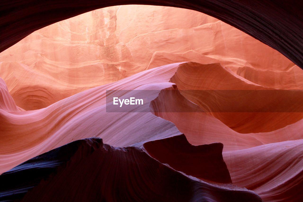 Rocky mountain sunset at antelope canyon