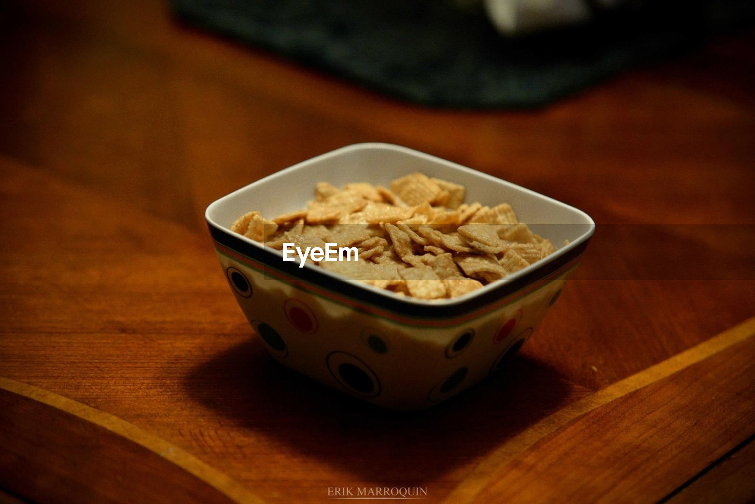 food and drink, indoors, food, freshness, table, still life, ready-to-eat, healthy eating, wood - material, bowl, plate, close-up, meal, indulgence, selective focus, high angle view, serving size, wooden, no people, focus on foreground
