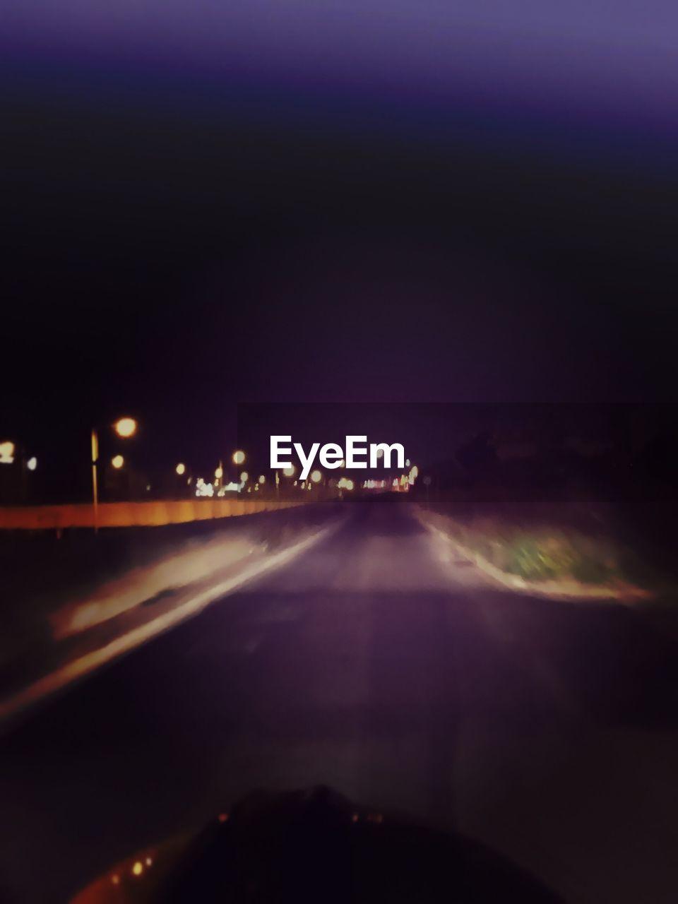 illuminated, night, road, transportation, no people, outdoors, sky, nature