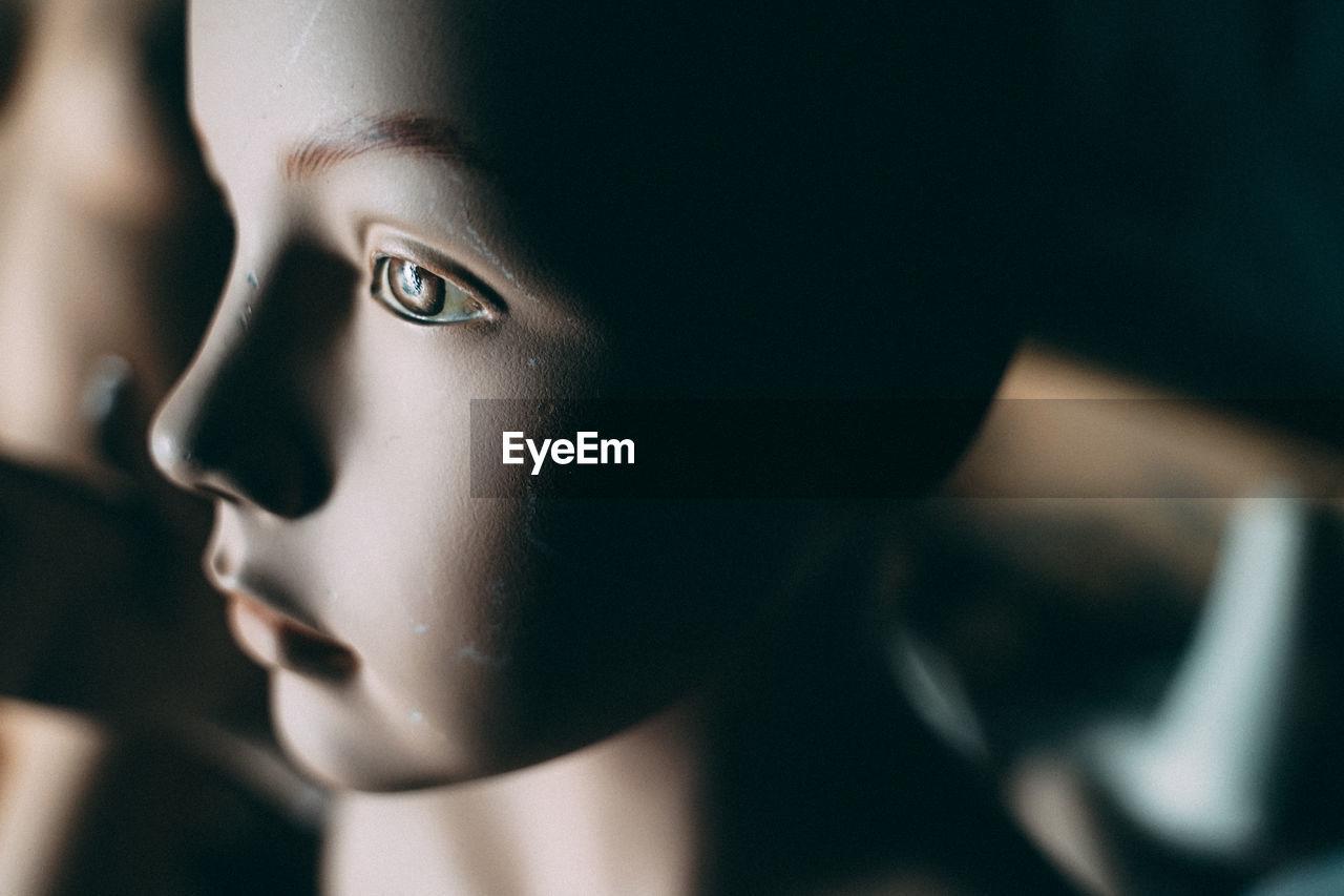 Close-up of mannequin